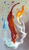 Jayden The All Elemental Tiger by JoJoBynxFwee