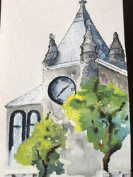 Lawrence Kansas Courthouse (ca. 1903) by JJWatercolor704