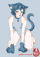 OC Haneul the Catgirl in a cute pose by Yeougui