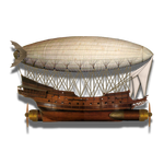 Steampunk Victorian Airship Icon Mk 2 by pendragon1966