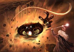 LOTR - Gandalf and the Balrog by Evolvana
