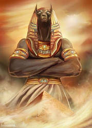 Anubis, Lord of the Dead by Evolvana