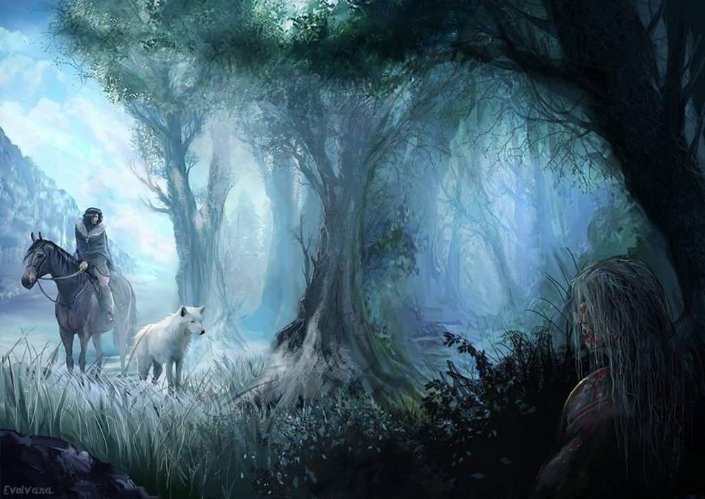 Jon Snow - Beyond the Wall by Evolvana