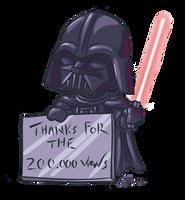 Darth Vader chibi 200k by Evolvana
