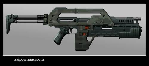 Lisette M41A Pulse Rifle by BlackDonner