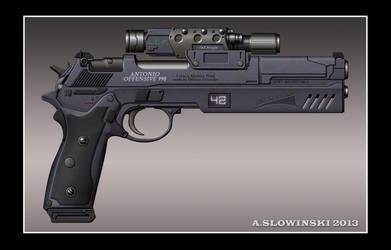Antonio Offensive 990 Machine Pistol by BlackDonner