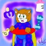 Commission: Flash the Hedgehog by MsLunarUmbreon