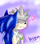 Sonilver Kisses by MsLunarUmbreon