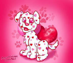 Love Puppy (Happy Valentine's Day) by MsLunarUmbreon