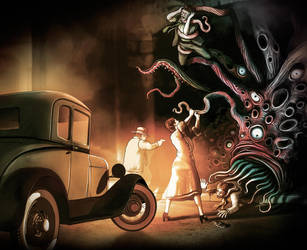 Fighting off the Shoggoth by robgould72