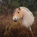 Norwegian Fjord Hobbyhorse 'Grendel' by Eponi-hobbyhorses