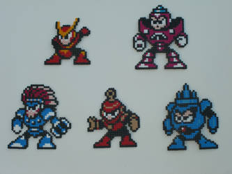 Megaman bead bosses 11 by zaghrenaut