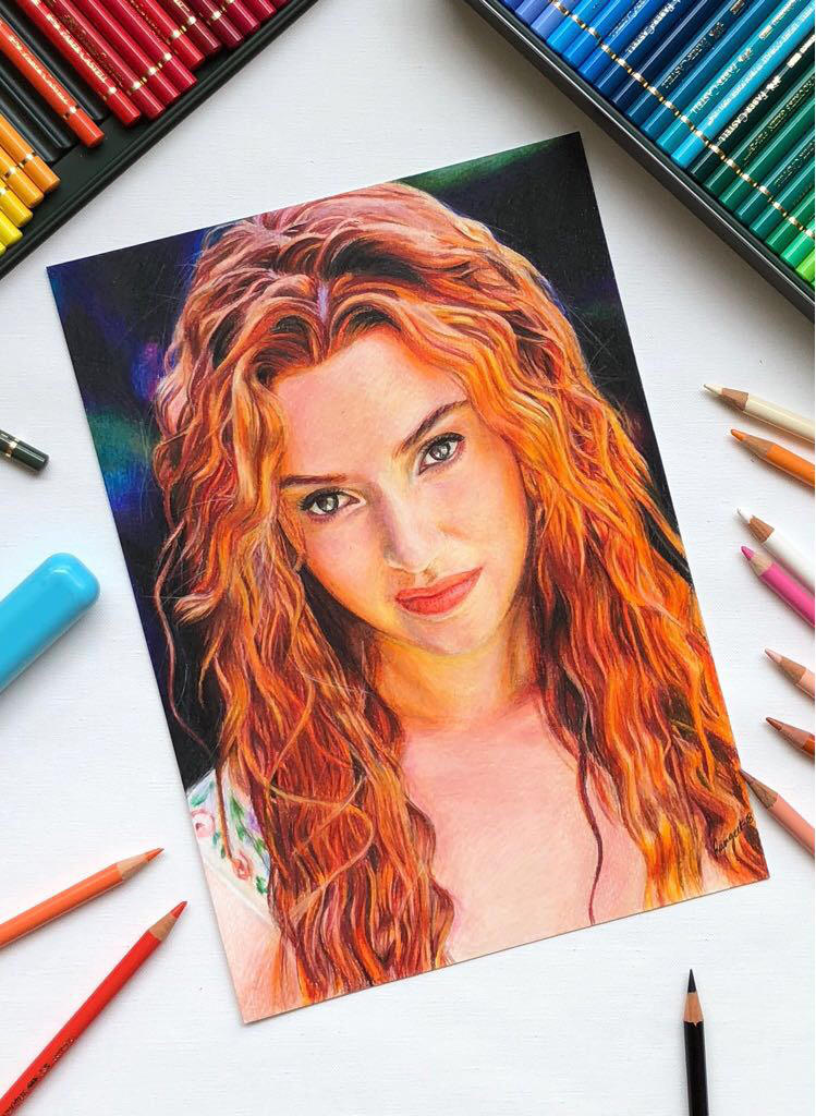 Drawing Kate winslet  by MYwhiteCANVAS