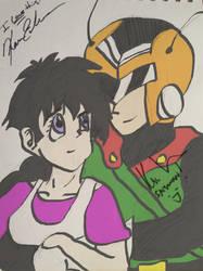 Signed Sketches: Kyle and Kara by Neosun7