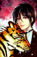The butler and his tiger by ComplexWish