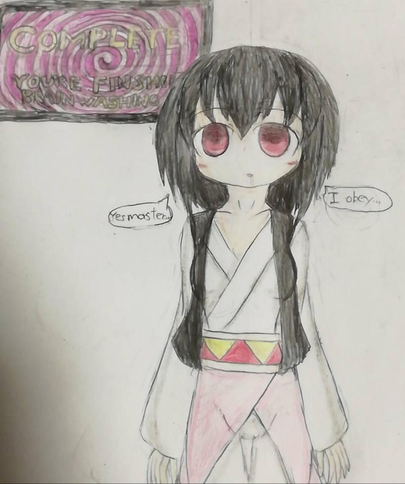Love (my original character ) hypnotized 4 by TobyAkafuji