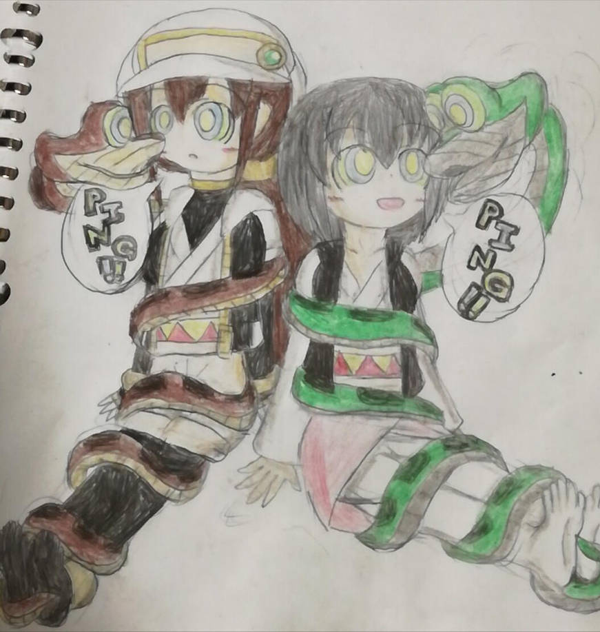 Love-chan and kaa 2 by TobyAkafuji