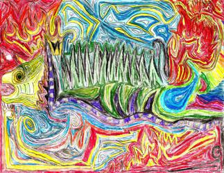 lizard of lines by RymNotrim