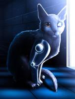 Cyborg Cat by RymNotrim