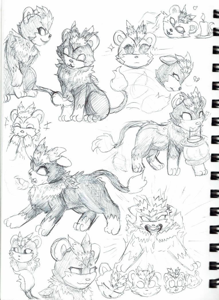 Shining Oasis Aliya Pen Sketches by RymNotrim