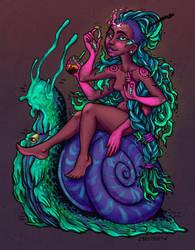 Snail Gal by JulieBeloussow