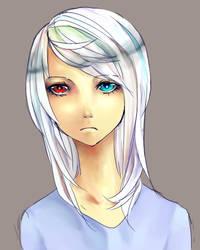 white hair by lightinatunnel