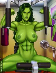 Jen's workout by zakuman