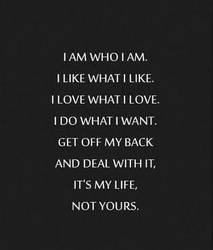 I AM WHO I AM by tallsimeon2003
