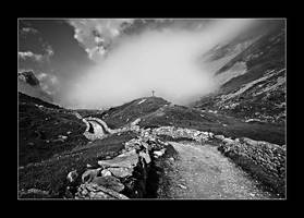 Toward the fog - B and W by Objectix