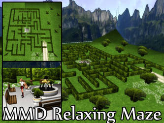 MMD Relaxing Maze Stage DL by SachiShirakawa