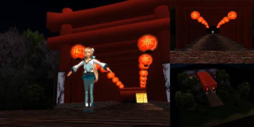 MMD Lantern Temple Stage by SachiShirakawa