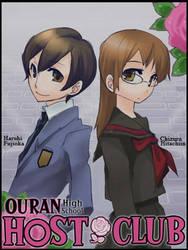 Ouran Host Club Haruhi And Chizuru by SachiShirakawa