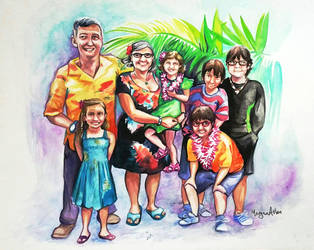 Family Portrait in Hawaii by caroro