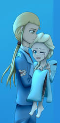Elsa and Sabre [Request] by QianaKing