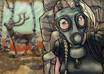The Girl in the Gas Mask: Encounter I by Dok-aLeXa