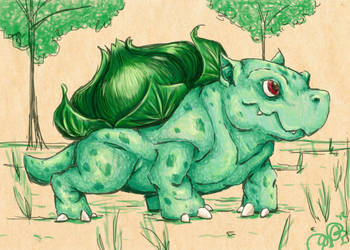 001 bulbasaur by CapnShortstack