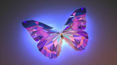low poly butterfly  by RitikRaj-3d