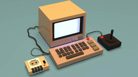 simple computer by RitikRaj-3d
