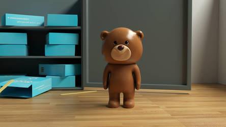 Tim the Teddy  by RitikRaj-3d