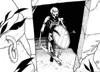 Bw Skeleton 2 Ink by markador