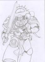 Space Marine 1 Pencils by markador