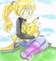 ::.Yellow and Pika::. by Umbra-Flower