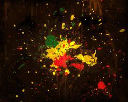 Rasta Splatter WallPaper by Fourthy