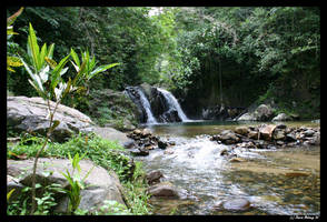 Fiji waterfall by etherealcob