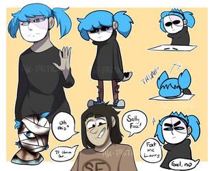 Sally Face Doodle Dump by AK-tastic