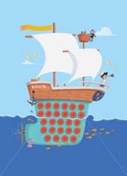 row row row your boat by VhillsVegas