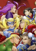 Street Fighter Girlies by gokusjin
