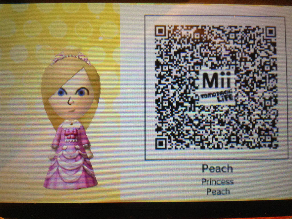 Daisy Mii Qr Code Tomodachi Life: Princess Peach Mii (For Use In Tomodachi Life) By