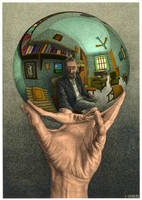 Hand with Reflecting Sphere by xenomorph1138