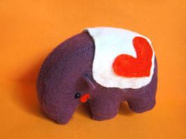 Purple tapir by casscc